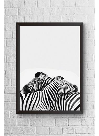 Lyn Home & Decor İki Zebra Çerçeveli Poster Tablo 23.5X33,5 Siyah
